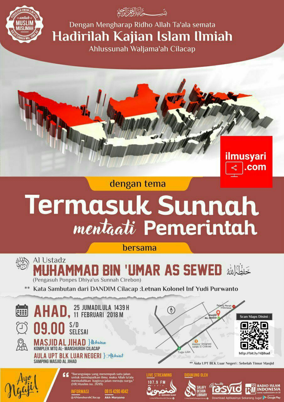 info kajian salafy di Cilacap (11/02/2018)