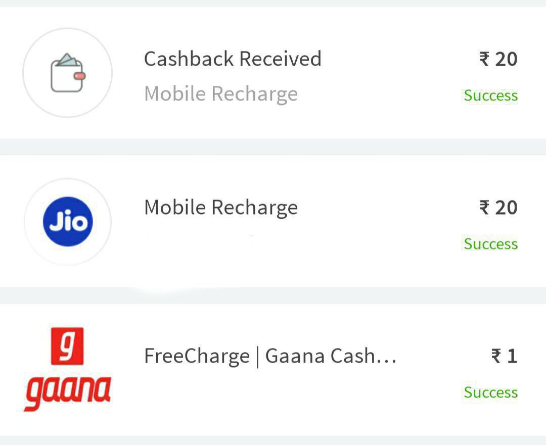 ₹20 Recharge FREE :- Open Freecharge App>Go to ₹1 Deal