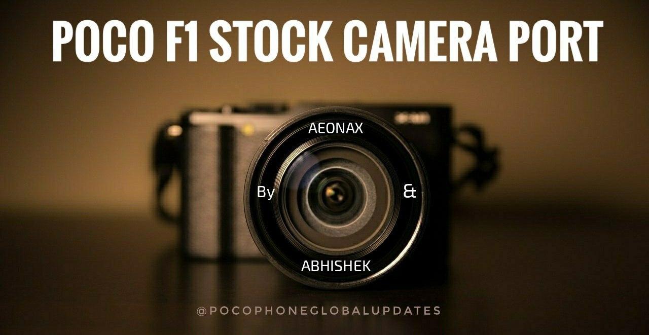 Stock #MIUI #Camera #Port #PocoF1 MIUI CAMERA PORT FOR POCO F1